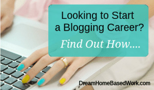 Start a blogging career