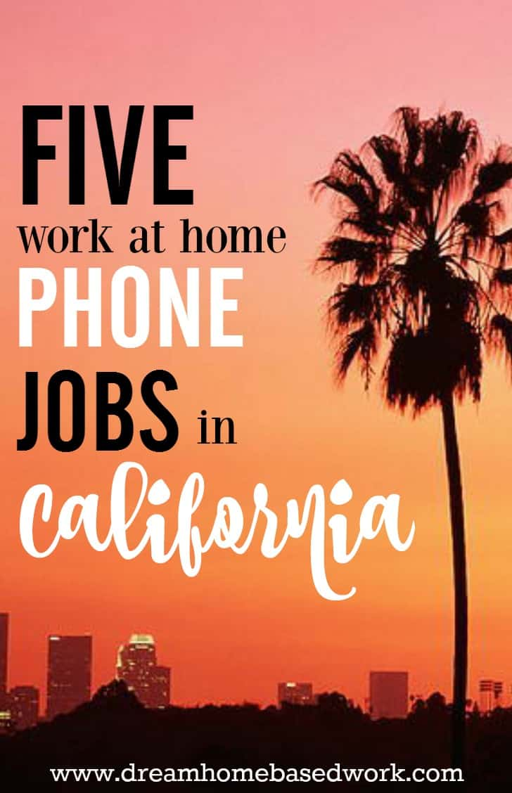 If you're looking for a home-based job, check out this list of virtual call centers that do offer work at home to California residents.