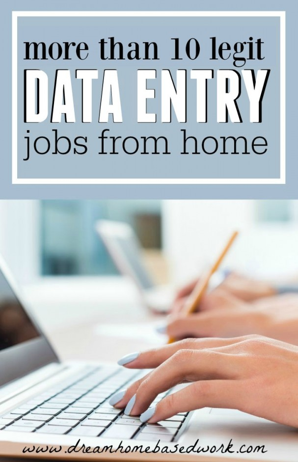 Legitimate At Home Data Entry or Typing Jobs