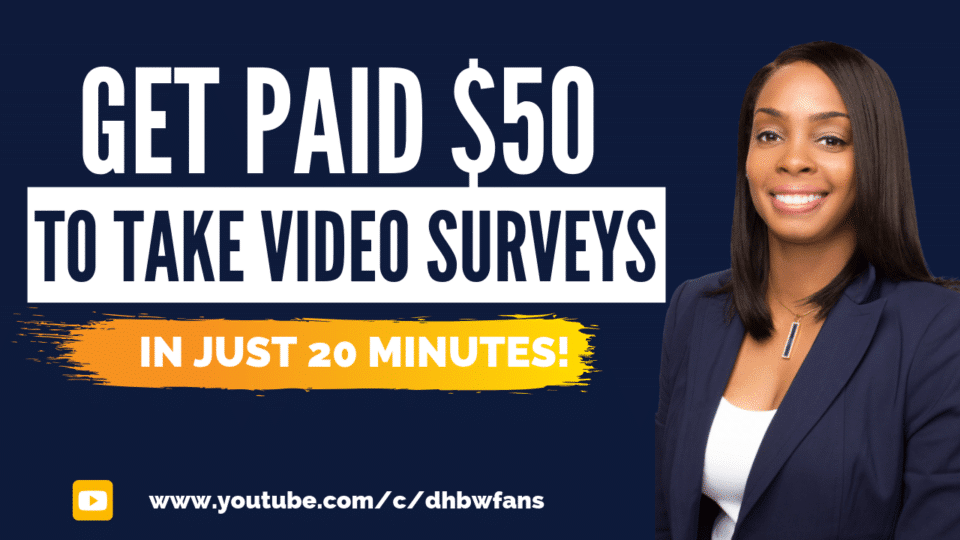 Get Paid $50 To Take Video Surveys Banner