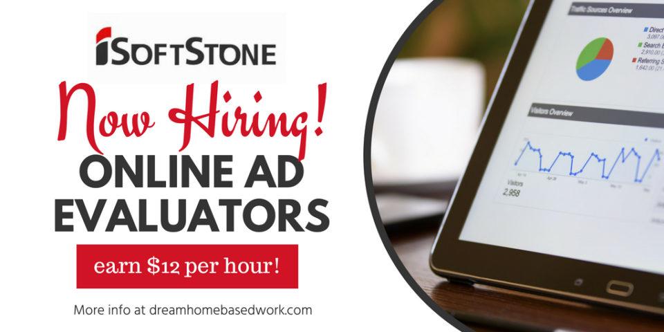 iSoftStone Now Hiring! Online Ad Evaluators : Earn $12 Per Hour