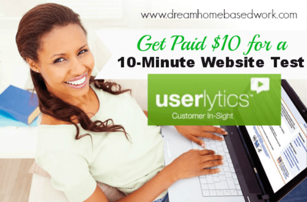Get paid $10 for a 10 minute Website Test