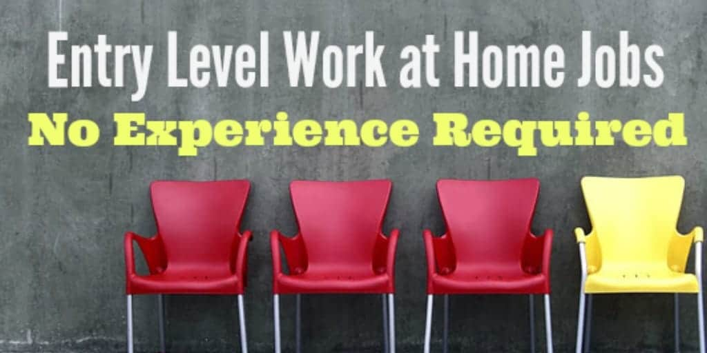 Entry Level Work At Home Jobs With No Experience