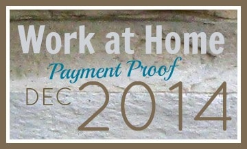 Work at Home Payment Proof December 2014