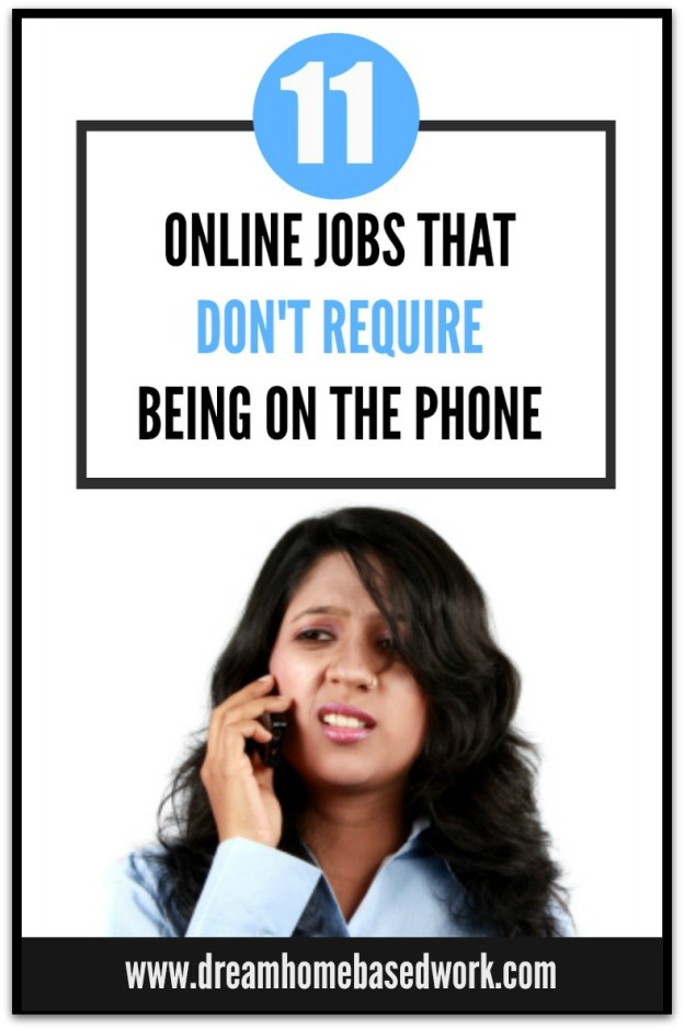11 Online Jobs that Don't Require Being on the Phone