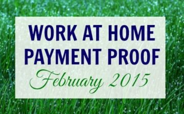 Work at Home Payment Proof for February 2015. I have gathered this month's payment proof just to show that there are legitimate work at home jobs that REALLY PAY!
