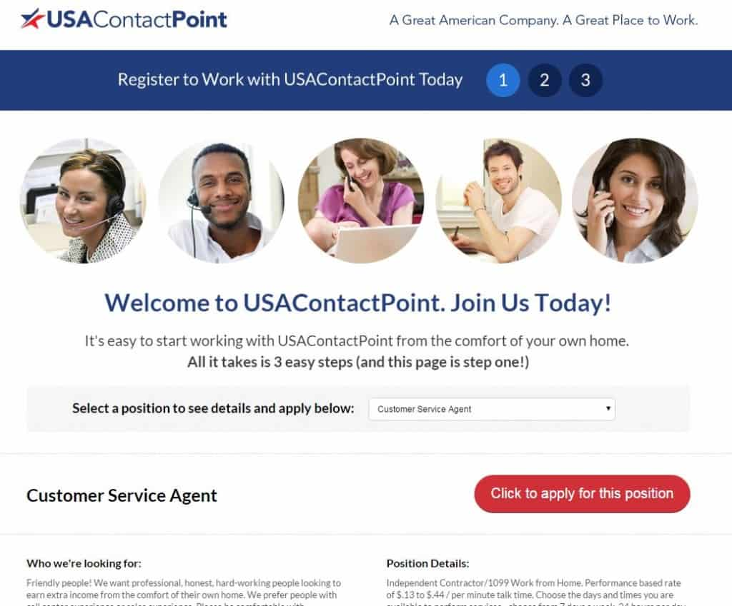 USA Contact Point is Offering Work at Home Jobs