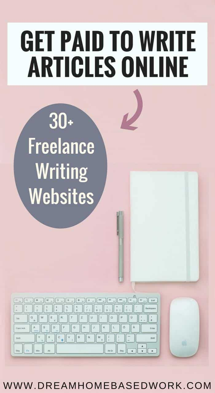 Get Paid Upfront To Write Articles Online: 30+ Freelance Writing Work at Home Sites