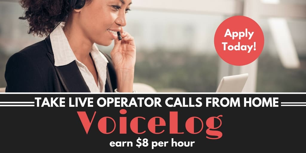 VoiceLog Offers Flexible Work at Home Live Operator Jobs