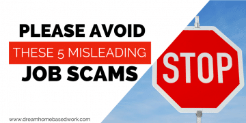 Avoid These 5 Misleading Work from Home Job Scams