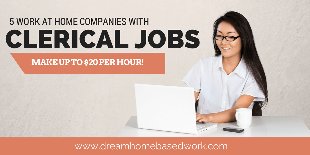 Hot Clerical Work at Home Jobs - Make Up To $20 Per Hour (Video)