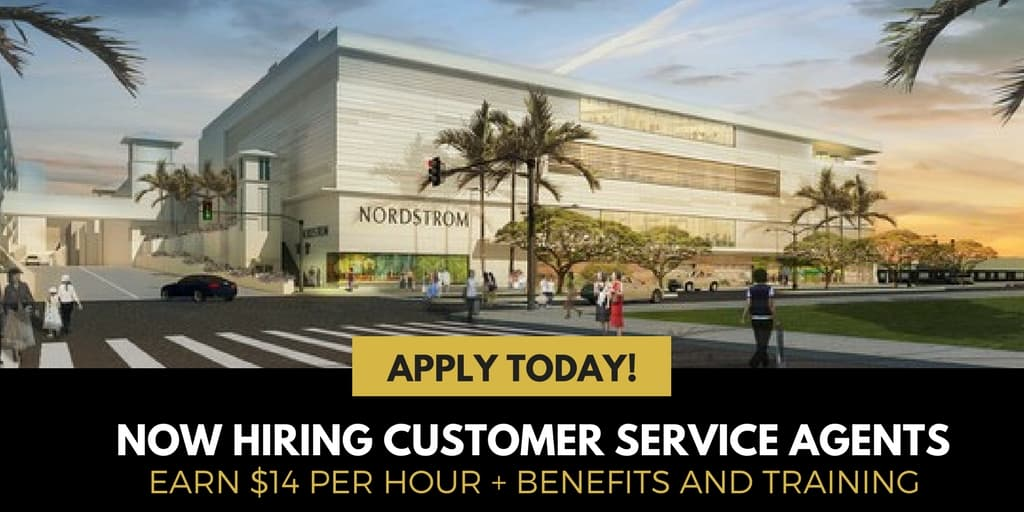 Nordstrom: Now Hiring Customer Service Agents