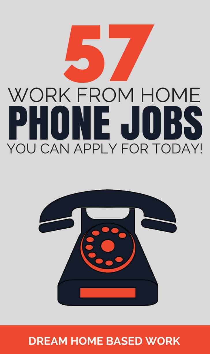 Finding phone jobs that you can do from home is much easier with many companies #hiring workers on a regular basis. See this big list of 57 home phone jobs.