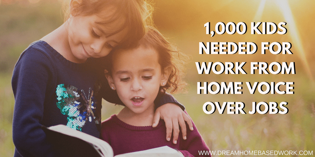 Read more about the article 1,000 Kids Needed for Work from Home Voice-Over Jobs