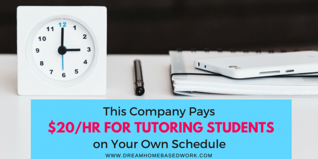 This Company Pays $20/Hr for Tutoring Students on Your Own Schedule