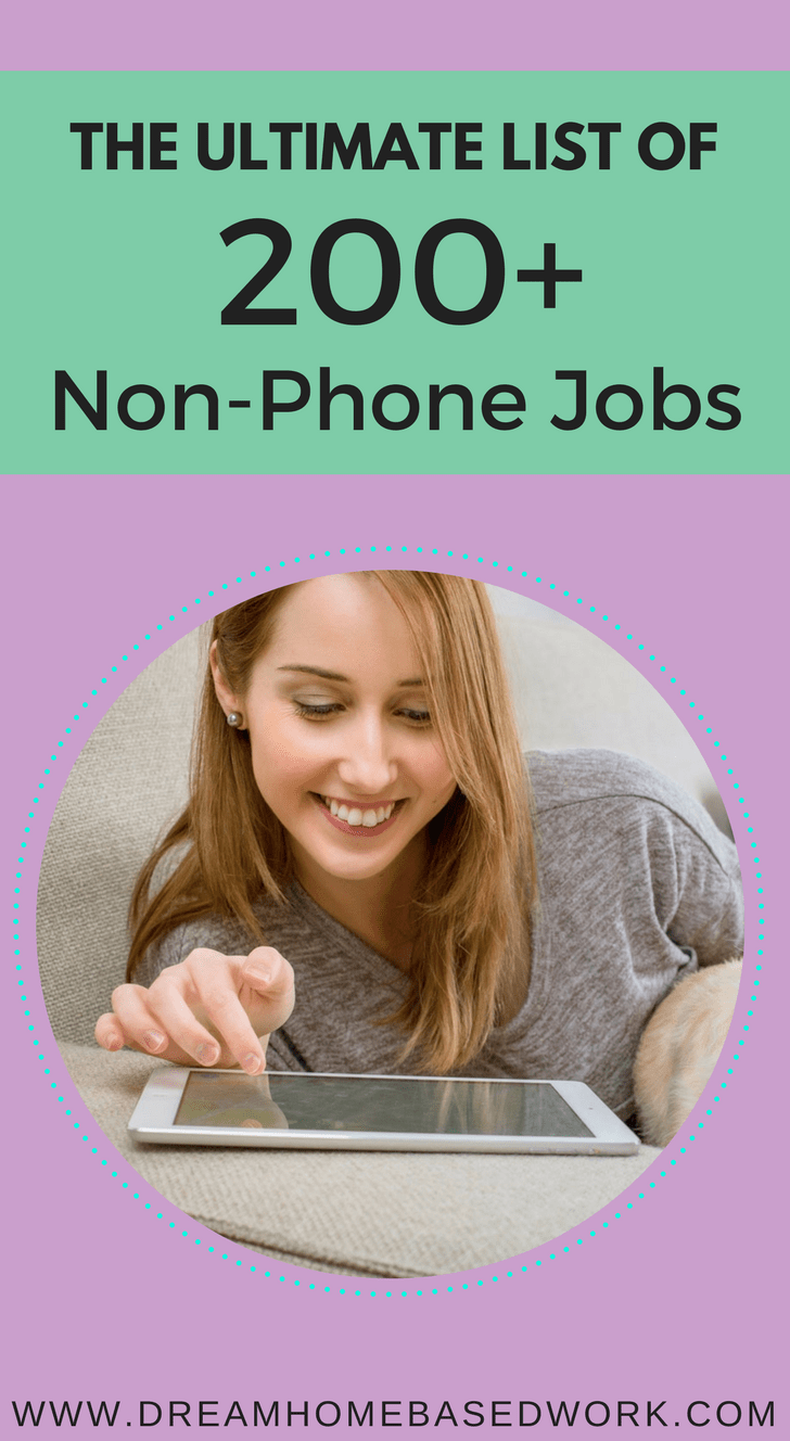 Are you seriously considering a non-phone work from home job? Here are some of the best types of non phone work from home jobs, where to find them, and how to apply.