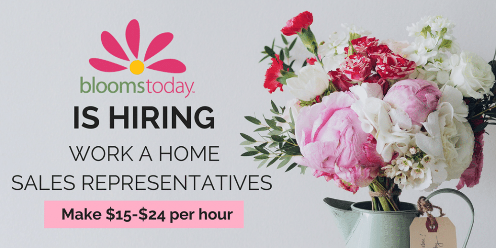 Blooms Today is Hiring Reps To Work from Home. Here's How To Apply