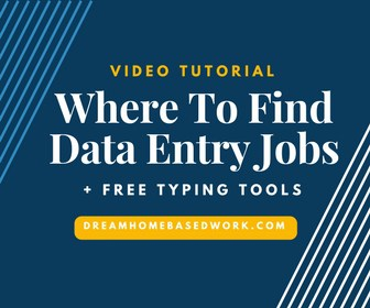 Where To Find Data Entry Jobs + Free Typing Tools