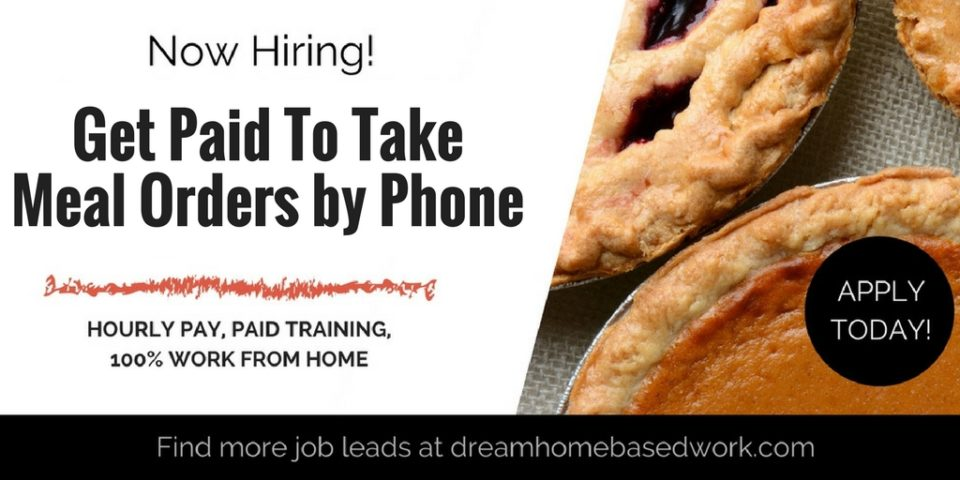 Get Paid to Take Meal Orders by Phone