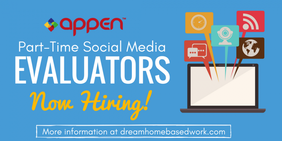 Appen is Hiring Part-Time (Work from Home) Social Media Evaluators