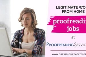 Legitimate Work from Home Jobs as a Proofreader at Proofreadingservices.com