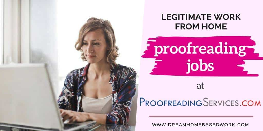 Legitimate Work from Home Jobs as a Proofreader with ProofreadingServices
