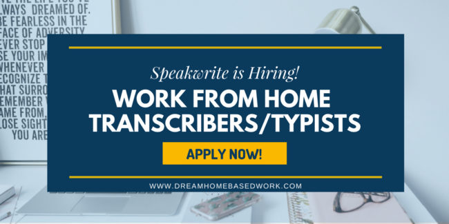 Flexible Work from Home Transcription Jobs at Speakwrite