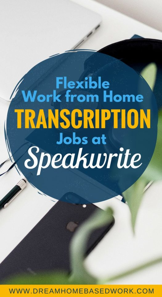 Flexible Work from Home Transcription Jobs at Speakwrite