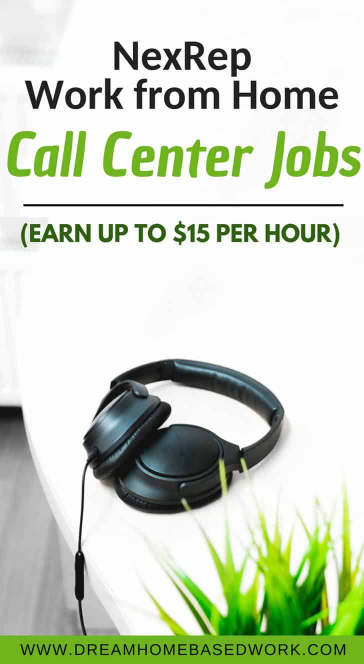 NexRep Work from Home Call Center Jobs (Earn Up To $15 Per Hour ...