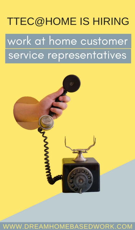 TTEC at Home is Hiring Customer Service Representatives
