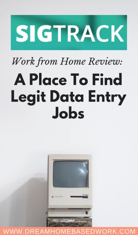 SigTrack Review: Work from Home Data Entry Jobs