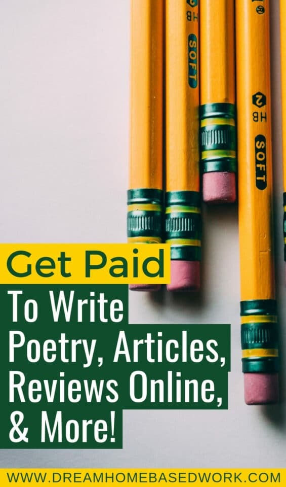 o you love writing poems? And, did you know that you can make a good amount of cash online by just writing poetry? There are several online platforms that allow you to write poems and get paid for your work.