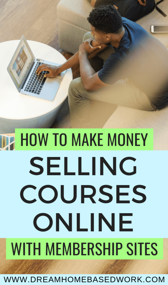 Learn how to make money from home selling courses online. Paid membership sites are a great way to monetize your content and teach what you know.  #homebusiness #entreprenuer