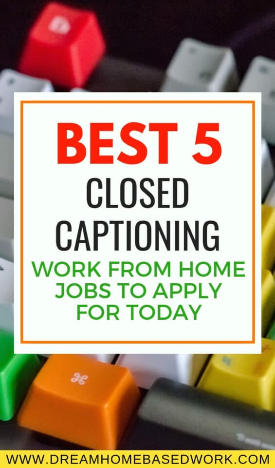 Are you lookiing to find a closed captioning work from home job? Here are the 5 best legitimate jobs for Closed Captioners to make money online.