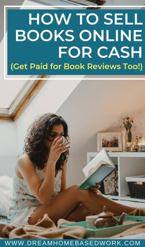 Love reading books? Do they just collect dust on the shelf when you're done. Selling books online for cash with these websites can help you earn good money. #sellbooksonline
