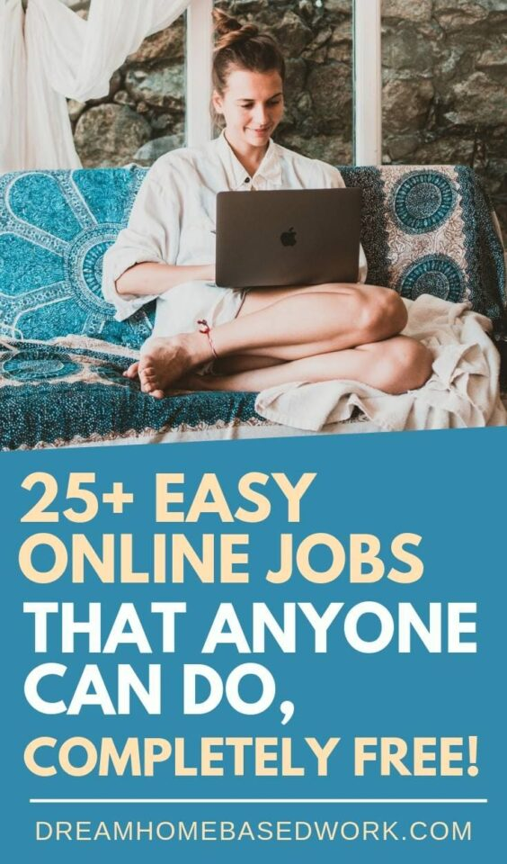 I absolutely love easy online jobs! If you want to earn more for less work, or do what you love doing, then these 25+ easy online jobs are for you! #makemoney #onlinejobs #earnmoneyonline #jobs #workfromhome