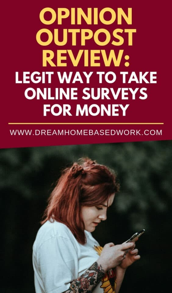 Want to earn real money for taking surveys online? Here's a detailed review of Opinion Outpost, one of the most popular survey websites on the web today. #surveys #paidsurveys #onlinesurveys #surveysthatpyacash
