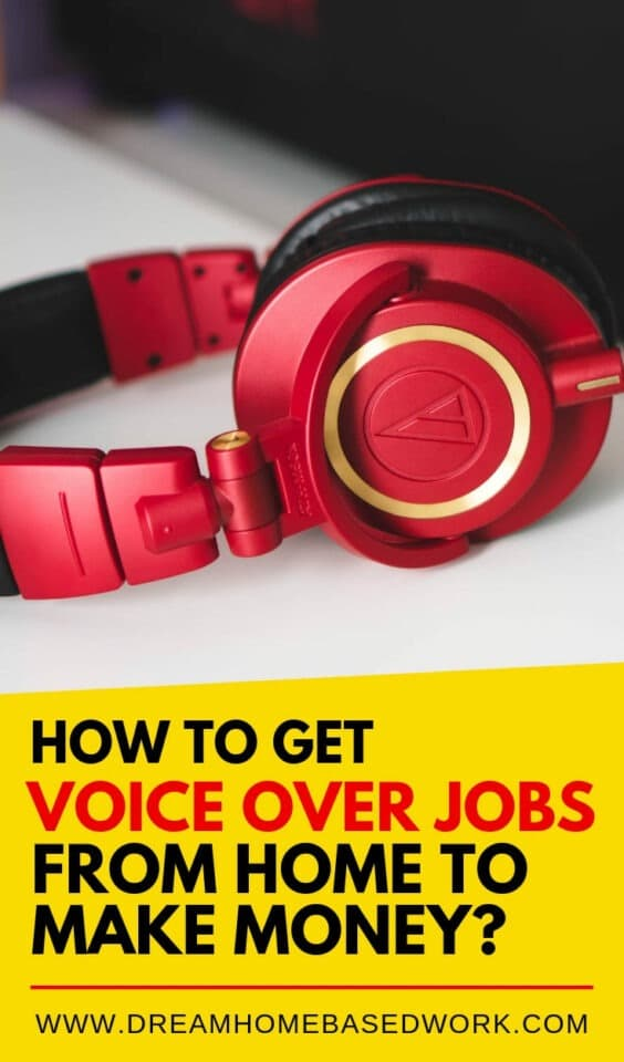 Looking to land some voice over gig work? Here are the besy ways to get voice over jobs from home to earn a full or part-time income online. #voiceover #narrator #jobs #workfromhome #makemoneyonline #parttimejobs