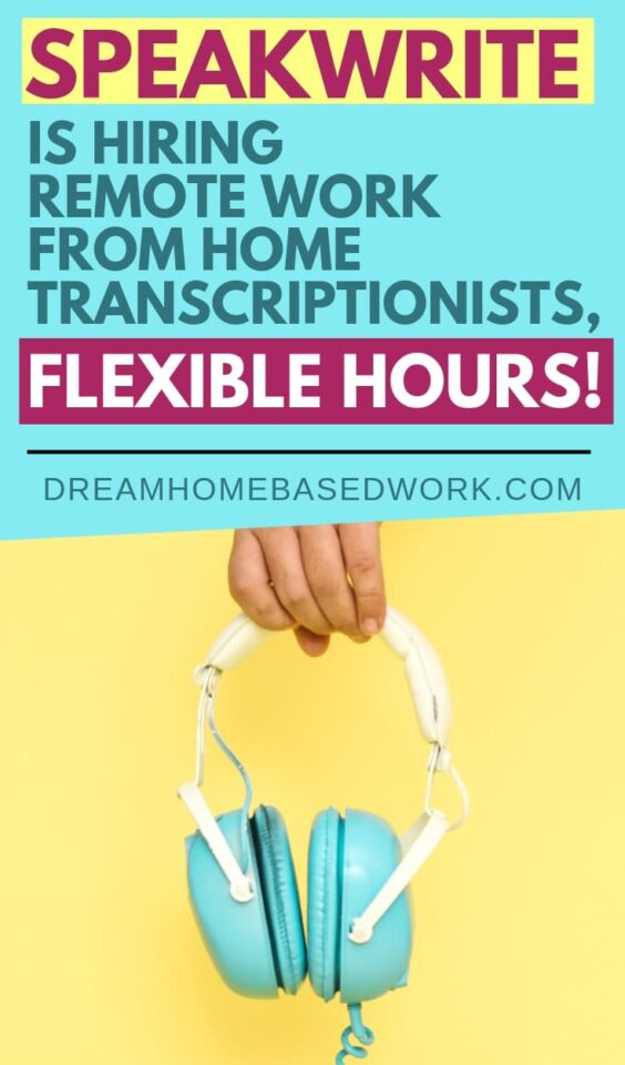 Now Hiring Work from Home Transcriptionists! Speakwrite recruits Remote Work from Home Transcriptionists, Flexible Hours! #transcription #workfromhome #freelance #jobs #transcriber #typing jobs #earnmoneyonline