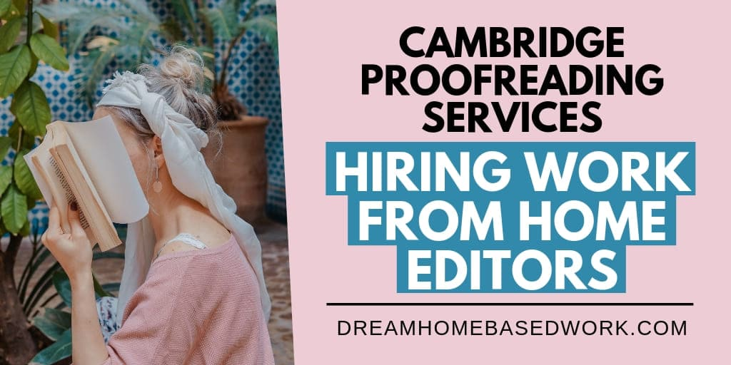 Cambridge Proofreading Services: A Place To Find Online Proofreading and Editing Jobs