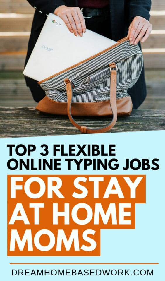 Typing is one of the most flexible jobs which makes it possible for stay at home moms to make money online. Check out these 3 popular online work at home typing jobs.