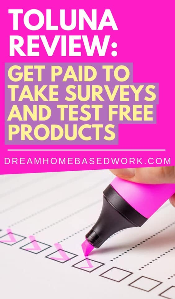 Want to get paid to take surveys and test products? Check out this Toluna review to learn more about how it work along with the pros and cons. #producttesting #onlinesurveys #surveys #makemoneyonline #paidsurveys #getpaidto