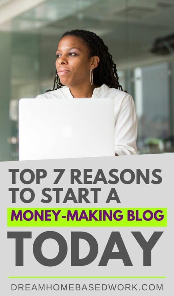 Can you really make money with a blog? With the right tools and strategies, yes. Check out these top reasons to start a money-making blog today. #blogging #goals