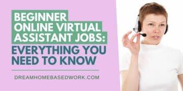 Beginner Online Virtual Assistant Jobs