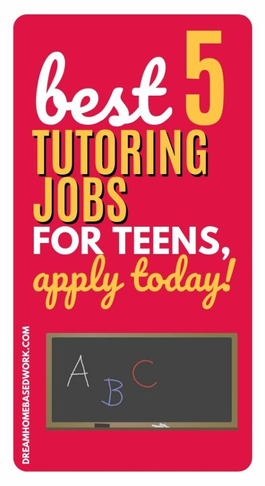 The Best 5 Tutoring Jobs for Teens