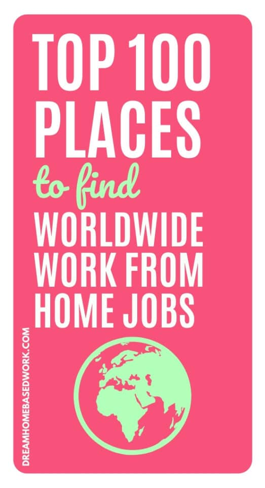 Struggling to find a worldwide work from home job? If so, you'll want to check out this HUGE list of global jobs available to workers worldwide.