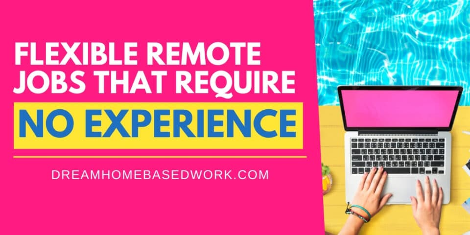 Flexible Remote Jobs That Require No Experience Pin