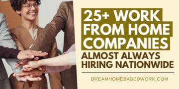 25+ Work from Home Companies Almost Always Hiring Nationwide