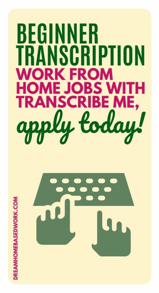 TranscribeMe is hiring transcribers and beginners are welcomed to apply! Read our full work at home review and subsmit your application today.