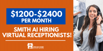 Smith.ai Review: $15/hr Work from Home Virtual Receptionist Job FB